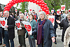 Marriage (Same Sex Couples) Bill discussion in Parliament on <br /> 20th May 2013 <br /> <br /> General View images outside Westminster<br /> and <br /> Protestors on College Green <br /> <br /> Duncan Boyd from Keep Marriage Special and Andrea Williams from Christian Concern <br /> <br /> <br /> <br /> Photograph by Elliott Franks