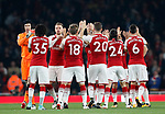 Arsenal's players shake hands before kick-off during the premier league match at the Emirates Stadium, London. Picture date 25th September 2017. Picture credit should read: David Klein/Sportimage
