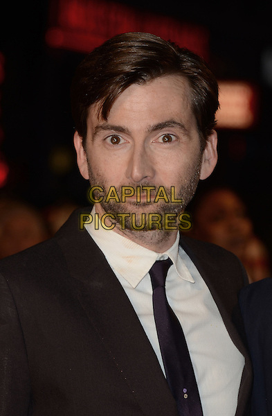 David Tennant.The 'Nativity 2: Danger In The Manger' world film premiere, Empire cinema, Leicester Square, London, England..November 13th, 2012.headshot portrait white shirt tie brown purple beard stubble facial hair .CAP/WIZ.© Wizard/Capital Pictures.