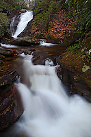 Chestnut Creek Falls in winter, Pisgah National Forest