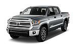 2017 Toyota Tundra TRD-Pro-4WD-Crew-Max-Short-Bed 4 Door Pickup Angular Front stock photos of front three quarter view