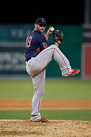 Lowell Spinners pitcher Jeremy Bleich (48) during a NY-Penn League game against the Batavia Muckdogs on July 10, 2019 at Dwyer Stadium in Batavia, New York.  Batavia defeated Lowell 8-6.  (Mike Janes/Four Seam Images)