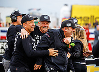 Sep 1, 2017; Clermont, IN, USA; Crew members for NHRA top fuel driver Ashley Sanford during qualifying for the US Nationals at Lucas Oil Raceway. Mandatory Credit: Mark J. Rebilas-USA TODAY Sports