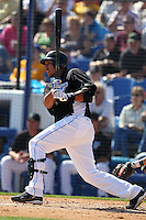 Toronto Blue Jays Juan Rivera #20 during a Spring Training game vs the Detroit Tigers at Florida Auto Exchange Stadium in Dunedin, Florida;  February 26, 2011.  Detroit defeated Toronto 4-0.  Photo By Mike Janes/Four Seam Images