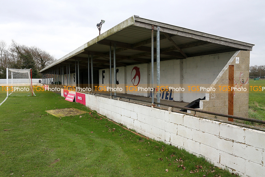 General view of the ground during Heybridge Swifts vs AFC Hornchurch, Ryman League Division 1 North Football at The Texo Stadium, Scraley Road on 25th February 2017