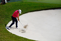 Alex Noren (SWE) in the 18th green side bunker during the 1st round at the WGC HSBC Champions 2018, Sheshan Golf CLub, Shanghai, China. 25/10/2018.<br /> Picture Phil Inglis / Golffile.ie<br /> <br /> All photo usage must carry mandatory copyright credit (&copy; Golffile | Phil Inglis)