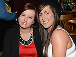 Kirsty Owens and Lorna Kerr pictured at Sean O'Brien's 21st birthday in the Thatch. Photo:Colin Bell/pressphotos.ie