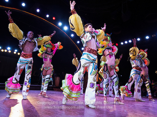 TH41129-D. Dancers in the world famous Tropicana show. Havana, Cuba.<br /> Photo Copyright &copy; Brandon Cole. All rights reserved worldwide.  www.brandoncole.com