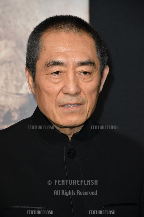 Yimou Zhang at the premiere for &quot;The Great Wall&quot; at the TCL Chinese Theatre, Hollywood, Los Angeles, USA 15 February  2017<br /> Picture: Paul Smith/Featureflash/SilverHub 0208 004 5359 sales@silverhubmedia.com