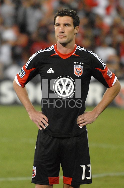D.C. United midfielder Chris Pontius (13) The New York Red Bulls tied D.C. United 2-2 at RFK Stadium, Wednesday August 29, 2012.