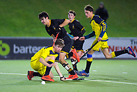 Action from the 2019 Wellington Secondary Schools Premier 1 Boys Grade hockey final between Wairarapa College and Wellington College at National Hockey Stadium in Wellington, New Zealand on Friday, 23 August 2019. Photo: Dave Lintott / lintottphoto.co.nz