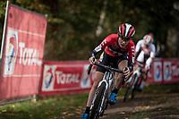 eventual race winner Yara Kastelijn (NED/777)<br /> <br /> Womens Race<br /> 42nd Superprestige cyclocross Gavere 2019<br /> <br /> ©kramon