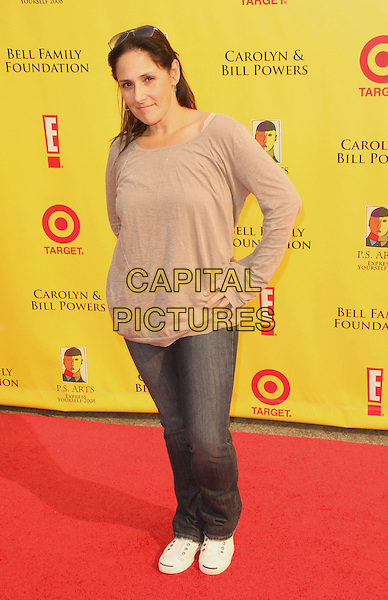 "RICKI LAKE .""2008 P.S. ARTS' Express Yourself"" Sponsored By Target Event, Santa Monica, California, USA..November 16th, 2008.full length jeans denim beige top hands on hips .CAP/ADM/KB.©Kevan Brooks/AdMedia/Capital Pictures."