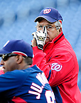29 September 2009: Washington Nationals' Bench Coach Pat Corrales watches batting practice prior to a game against the New York Mets at Nationals Park in Washington, DC. The Nationals rallied to defeat the Mets 4-3 in the second game of their final 3-game home series. Mandatory Credit: Ed Wolfstein Photo