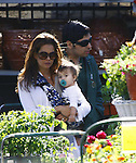 ..2-27-09.Brooke Burke shopping for plants at a nursery in Los Angeles with her new baby Shaya and husbad David Charvet ..AbilityFilms@yahoo.com.805-427-3519.www.AbilityFilms.com..