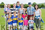 The O'Donoghue clan celebrate Eamon Snr winning the egg and spoon race at the Cordal Jamboree festival on Sunday front row l-r: Rachel O'Donoghue, Jamie Nolan, Sean, Laura, and Emily O'Donoghue, Sophie Nolan. Back row: Evie, Katie, Tim, and Eamon John O'Donoghue, Mary Nolan, Eamon and Elaine O'Donoghue