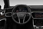 Car pictures of steering wheel view of a 2020 Audi A7 Premium-Plus 5 Door Hatchback Steering Wheel