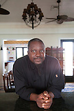 EXUMA, Bahamas. The executive Chef of the Fowl Cay Resort.