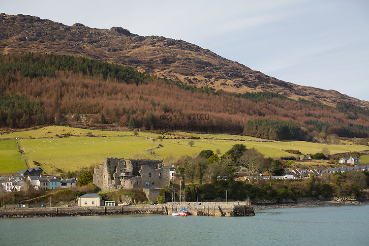King John's Castle which juts out into the water in Carlingford, Ireland