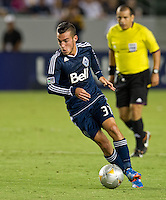 CARSON, CA - September 1, 2012: Vancouver midfielder Russell Teibert (31) during the LA Galaxy vs the Vancouver Whitecaps FC at the Home Depot Center in Carson, California. Final score LA Galaxy 2, Vancouver Whitecaps FC 0.