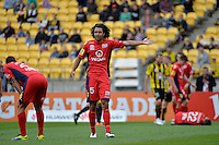 Osama Malik during the A League - Wellington Phoenix v Adelaide United, Wellington, New Zealand on Sunday 30 March 2014. <br /> Photo by Masanori Udagawa. <br /> www.photowellington.photoshelter.com.
