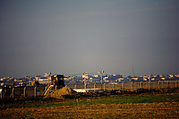 Karni, Israel Dec. 29, 2008.IDF position on alert on Gaza's borderline. After several weeks of total closure, Israel has launched its most important military operation ever in the Gaza strip, following Hamas' refusal to extend the 6 months truce.