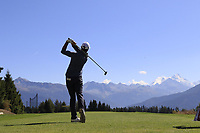 Chase Koepka (USA) tees off the 7th tee during Sunday's Final Round 4 of the 2018 Omega European Masters, held at the Golf Club Crans-Sur-Sierre, Crans Montana, Switzerland. 9th September 2018.<br /> Picture: Eoin Clarke | Golffile<br /> <br /> <br /> All photos usage must carry mandatory copyright credit (&copy; Golffile | Eoin Clarke)