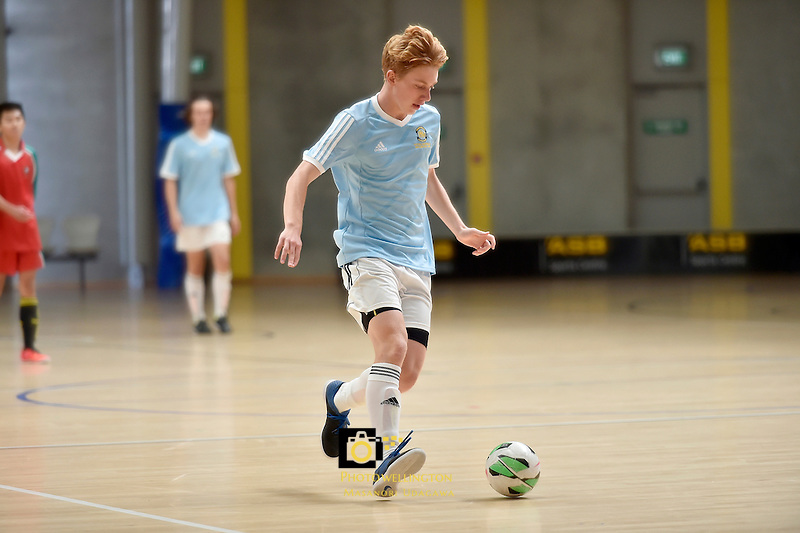 Action from NZSS National Futsal Championships at ASB Sports Centre, Kilbirnie, New Zealand on Friday 27 March 2015. <br /> Photo by Masanori Udagawa. <br /> www.photowellington.photoshelter.com.