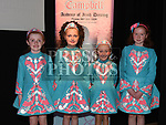 Niamh O'Sullivan, Megan Hanratty, Aoife Nevin and Kaelin Butler who took part in the Caroline Campbell Academy of Irish Dancing show in the Droichead Arts Centre. Photo:Colin Bell/pressphotos.ie