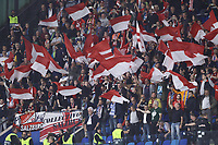5th November 2019; Stadio San Paolo, Naples, Campania, Italy; UEFA Champions League Group Stage Football, Napoli versus Red Bull Salzburg; supporters of Salzburg show their colours - Editorial Use