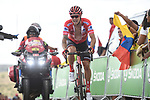 Nicolas Roche (IRL) Team Sunweb loses the leaders Red Jersey at the finish of Stage 5 of La Vuelta 2019 running 170.7km from L'Eliana to Observatorio Astrofisico de Javalambre, Spain. 28th August 2019.<br /> Picture: Colin Flockton | Cyclefile<br /> <br /> All photos usage must carry mandatory copyright credit (© Cyclefile | Colin Flockton)
