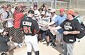 Ichiro Suzuki (Marlins),<br /> FEBRUARY 25, 2015 - MLB :<br /> Ichiro Suzuki of the Miami Marlins signs autographs for fans during the Miami Marlins spring training camp in Jupiter, Florida, United States. (Photo by AFLO)