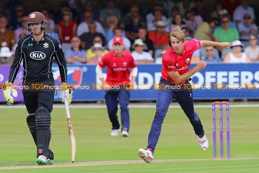 Matt Quinn in bowling action for Essex during Essex Eagles vs Surrey, Royal London One-Day Cup Cricket at the Essex County Ground on 24th July 2016