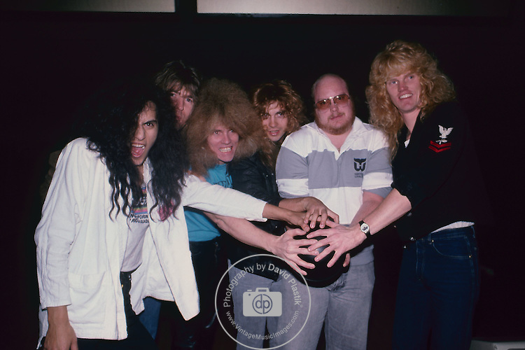 Lizzy Borden with Brian Slagle at Rock n Bowl 1987