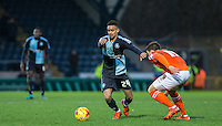 Paris Cowan-Hall of Wycombe Wanderers on the ball during the Sky Bet League 2 match between Wycombe Wanderers and Luton Town at Adams Park, High Wycombe, England on 6 February 2016. Photo by Andy Rowland.