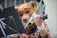 Pictured: Saturday 17 September 2016<br /> Re: Roald Dahl&rsquo;s City of the Unexpected has transformed Cardiff City Centre into a landmark celebration of Wales&rsquo; foremost storyteller, Roald Dahl, in the year which celebrates his centenary.<br /> The Fox String Quartet play in Castle Arcade, Cardiff city centre.