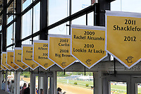Scenes from around the track on Black-Eyed Susan Day on May 18, 2012 at Pimlico Race Course in Baltimore, Maryland  (Bob Mayberger/Eclipse Sportswire)