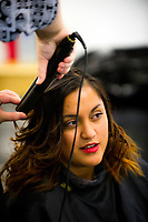 Te Auaha hair and makeup photoshoot at Whitireia in Porirua, New Zealand on Wednesday, 24 May 2017. Photo: Dave Lintott / lintottphoto.co.nz