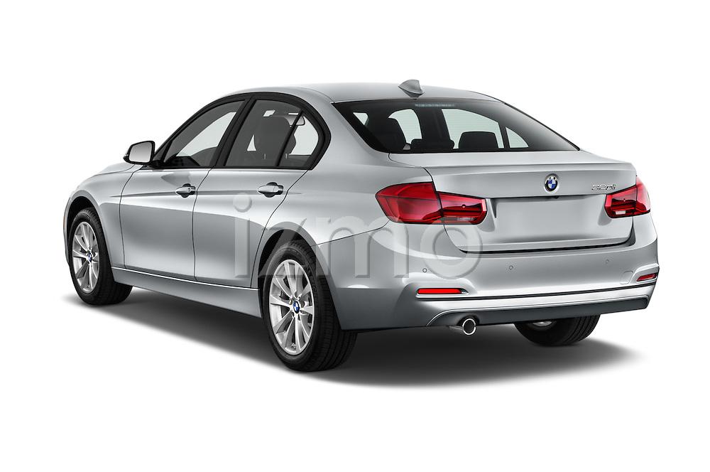 Car pictures of rear three quarter view of 2018 BMW 3-Series 320i 4 Door Sedan Angular Rear