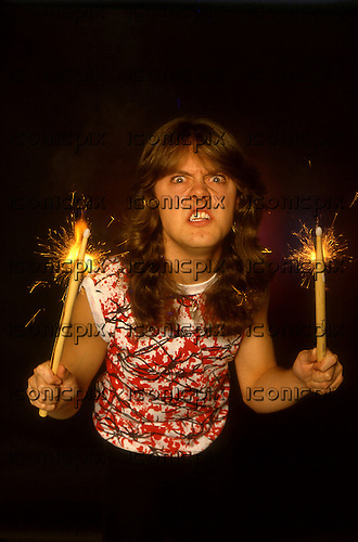 Metallica - drummer Lars Ulrich - photosession in London UK - March 1984.  Photo credit: Ray Palmer Archive/IconicPix