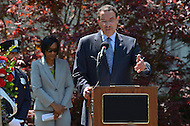 May 10, 2013  (Washington, DC)  D.C. Mayor Vincent Gray speaks during a National Police Week ceremony at the Washington Area Law Enforcement Memorial.  (Photo by Don Baxter/Media Images International)