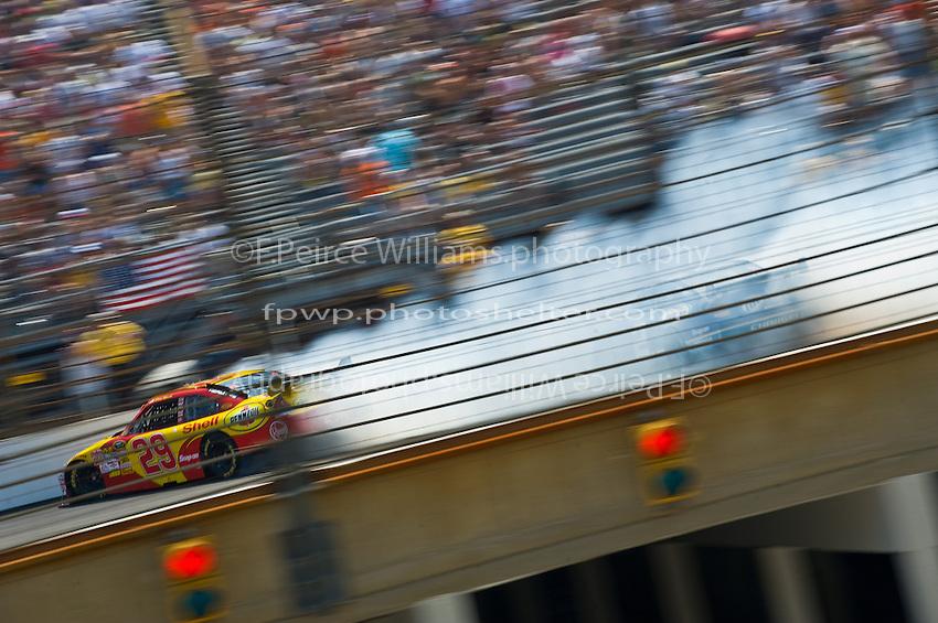 25-27 July 2008, Indianapolis, Indiana USA.Kevin Harvick (29) and Kurt Busch crash..©F.Peirce Williams 2008, USA.F. Peirce Williams.photography