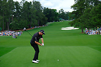 Shane Lowry (IRL) on the 8th tee during the 2nd round at the The Masters , Augusta National, Augusta, Georgia, USA. 12/04/2019.<br /> Picture Fran Caffrey / Golffile.ie<br /> <br /> All photo usage must carry mandatory copyright credit (© Golffile | Fran Caffrey)