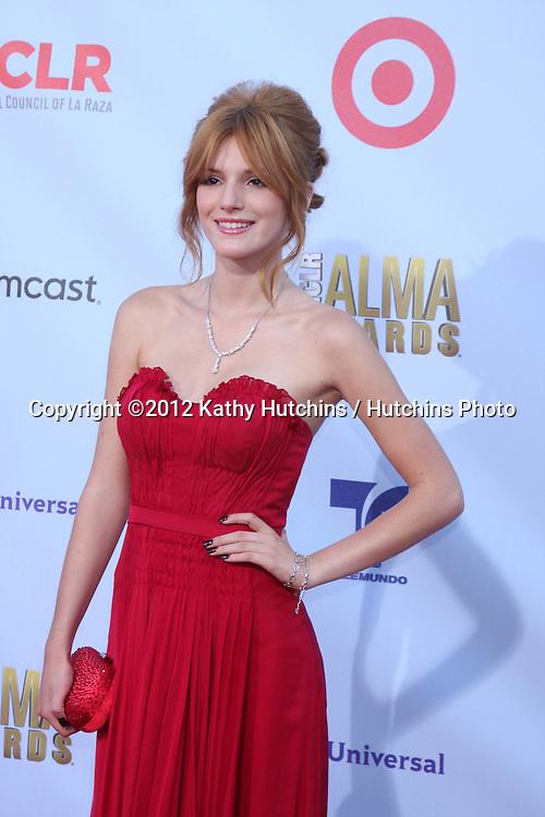 LOS ANGELES - SEP 16:  Bella Thorne arrives at the 2012 ALMA Awards at Pasadena Civic Auditorium on September 16, 2012 in Pasadena, CA
