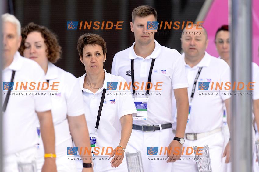 JUDGES<br /> London, Queen Elizabeth II Olympic Park Pool <br /> LEN 2016 European Aquatics Elite Championships <br /> Swimming<br /> Day 09 17-05-2016<br /> Photo Andrea Staccioli/Deepbluemedia/Insidefoto