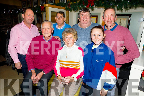 Enjoying the evening in the Brogue Inn on Saturday<br /> Front l to r: Ricky and Helen Rogers and Holly O'Brien. <br /> Back l to r: Ricky Rogers, Eddie O'Shea, Michael O'Brien and Jimmy Rogers.