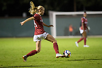 STANFORD, CA - September 27, 2018: Abby Greubel at Stanford Stadium. The Stanford Cardinal defeated the UCLA Bruins, 3-2.