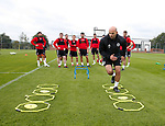 Lee McMahon explains the drill during the training session at the Shirecliffe Training complex, Sheffield. Picture date: June 27th 2017. Pic credit should read: Simon Bellis/Sportimage