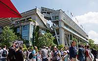 France, Paris , May 24, 2015, Tennis, Roland Garros, Court Philippe Charter (Centercourt)<br /> Photo: Tennisimages/Henk Koster