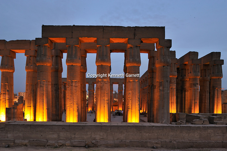 Zahi Hawass Secret Egypt Travel Guide; Egypt; archaeology; Luxor; Luxor Temple, Solar Courtyard, Amenhotep III, New Kingdom